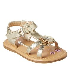 Another great find on #zulily! Gold Daisy Sandal #zulilyfinds