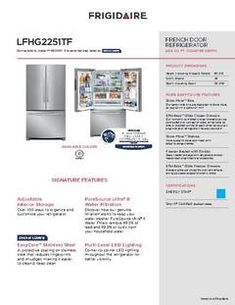Frigidaire ft Counter-depth French Door Refrigerator with Ice Maker (EasyCare Stainless Steel) ENERGY STAR at Lowe's. This Lowe's Exclusive Frigidaire cu. French door refrigerator is similar to but has an EasyCare™ Stainless Steel finish that Door Shelves, Door Storage, Old Mansions For Sale, Door Alarms, Counter Depth, Steel Cabinet, Lowes Home, Door Kits