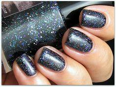 Boombastic Nails: China Glaze Jungle Queen & CrowsToes Triple Black Diamond