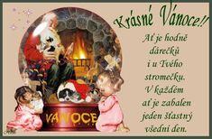 Veselé Vánoce Merry Christmas, Christmas Gifts, Advent, Snow Globes, Santa, Miniatures, Frame, Cute, Facebook