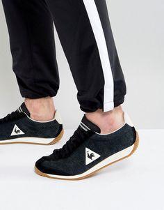 4979642848c8 Le Coq Sportif Quartz Perforate Nubuck Sneakers In Black 1720090