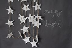 Find and save 33 easy diy christmas paper garland ideas on Decoratorist. See more about christmas, diy, easy. Christmas Paper, Christmas Holidays, Christmas Decorations, Pink Christmas, Xmas, Papier Diy, Star Garland, Garland Ideas, 242