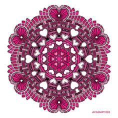 Valentine Mandala 58 Coloured by *Mandala-Jim on deviantART