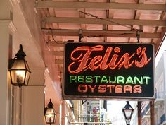 French Quarter, New Orleans - They had two guys continuously shucking oysters when I was there. Had them on the half-shell and in oyster stew.