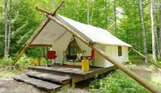 Fall Weekend Getaway: Glamping at Posh Primitive Near Lake George Camping Glamping, Outdoor Camping, Camping Ideas, Camping Hacks, Camping Outdoors, Diy Camping, Tent Living, Outdoor Living, Materiel Camping