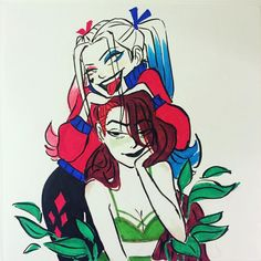 Harlivy | Poison Ivy | Harley Quinn | DC comics | My ship | Girlfriends | gay | lesbian couple | lgbt | lgbtq+