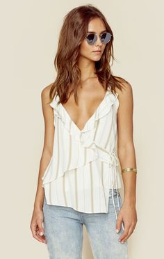 THE RUFFLE CAMI | our fave color: NUDE - @ShopPlanetBlue