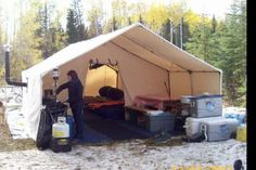 Whats the Best Canvas Wall Tent Out There? – Alberta Outdoorsmen Forum Whats the Best Canvas Wall Tent Out There? Camping Club, Tent Camping, Camping Stuff, Camping Gear, Backpacking, Survival Prepping, Survival Gear, Survival Quotes, Canvas Wall Tent