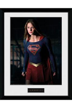 Supergirl Stand Framed Collector Print