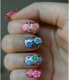 9 Best 3D Nail Art Designs : 3D Nail Art Using Metal/Plastic Beads and Famous