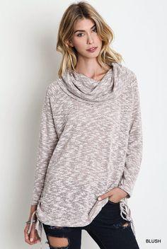 Cowl Neck Pullover - Chic Boutique