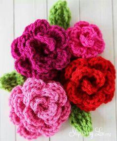 Crochet of a bouquet of flowers