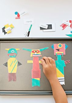 Modern Mix and Match Magnetic Monsters - Free Printable. Kids will love creating their own monsters with this set of free printable magnetic monsters.