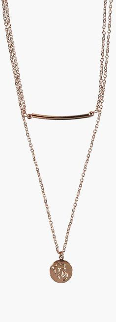 Evette Layered Bar and Coin Necklace - Necklaces  - Street Style, Fashion Looks And Outfit Ideas For Spring And Summer 2017