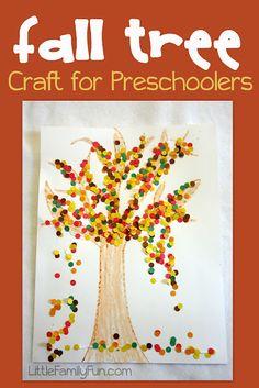 Easy and cute preschool craft for fall.