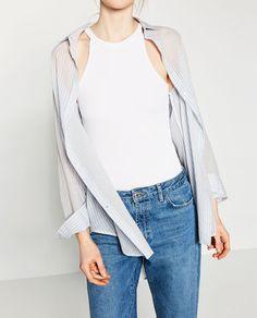 Image 2 of LONG SHIRT from Zara