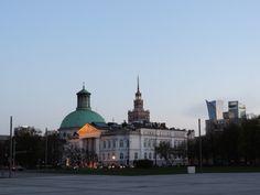 Palace of Culture and Science. Vista desde la tumba al soldado desconocido.