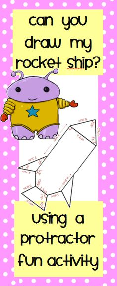 $  Drawing Angles Construction Activity - Includes three different space ships to construct.