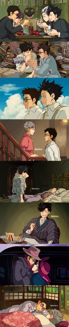 Wind Rises ~ Haikyuu AU by TaffyDesu