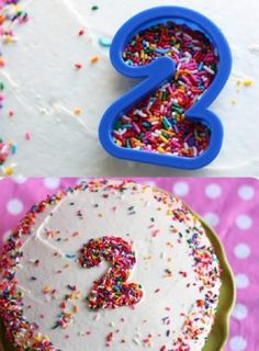 Use A Cookie Cutter To Make A Number Out of s Sprinkles
