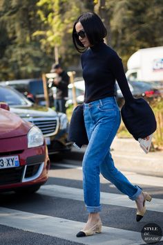#New on #STYLEDUMONDE http://www.styledumonde.com with @yoyokulala #YoyoCao at #paris #fashionweek #pfw #celine #outfit #ootd #streetstyle #streetfashion #fashion #mode #style
