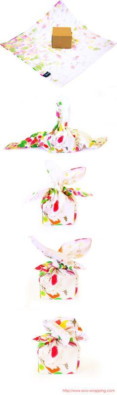 Flower wrapping #Furoshiki #Gift #Wrapping