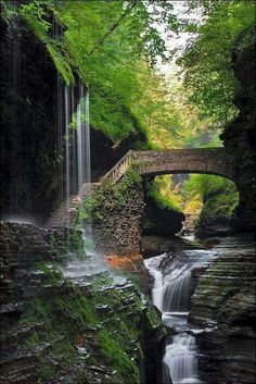 in World's Best Places to Visit. in World's Best Places to Visit. in World's Best Places to Visit. Beautiful Waterfalls, Beautiful Landscapes, State Parks, Places To Travel, Places To See, Watkins Glen State Park, Belle Photo, Vacation Spots, The Great Outdoors