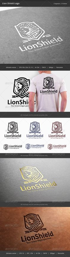Lion Shield Logo — Vector EPS #guard #security • Available here → https://graphicriver.net/item/lion-shield-logo/7658595?ref=pxcr