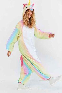 Shop Kigurumi Rainbow Unicorn Costume at Urban Outfitters today. Unicorn Fashion, Unicorn Outfit, Unicorn Costume, Unicorn Clothes, Unicorn Halloween Costume, Real Unicorn, Magical Unicorn, Rainbow Unicorn, Unicorn Birthday Parties