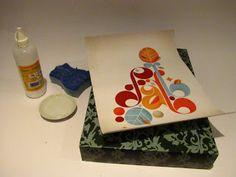 Moldura de quadro _ caixa de sapato, cola e arte