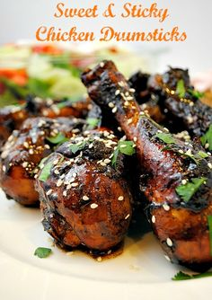 <3 Sweet and Sticky Chicken Drumsticks @Suzanne   You MadeThat?