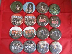 Gatski  KISS Rock Band Cruise package  16- 2.25   magnetic Inserts necklaces