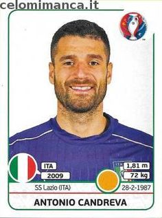 UEFA EURO 2016™ Official Sticker Album: Fronte Figurina n. 511 Antonio Candreva