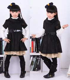 Cheap dress cat, Buy Quality dress love directly from China dresses dress up Suppliers: New Children's Autumn Spring Clothing For Girls Female Baby Fake Two Long-sleeved Floral Princess Dress Gray Yellow Kid