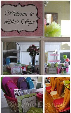 Spa Parties- Spa Playdate spa pedis,Make your own flip flop station, customized Cupcakes for group of (6) $130.00