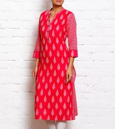 #Pink Block Print #Kurta at #Indianroots