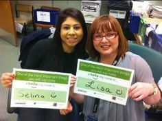#hellomynameis... Selina and Lisa!