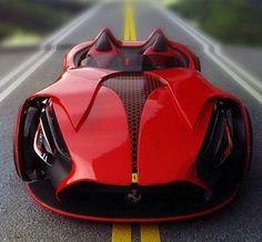 Electric Ferrari. Looks like it belongs to Batman's flashy twin.