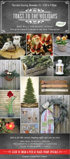 Why wait? Be the first to shop our Black Friday specials on a special shopping night.  McDonald Garden Center