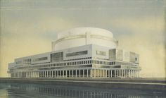 Vesnins' Palace of the Soviets 1932   by rosswolfe1