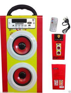 Altavoz Multimedia L-80 Portatil HIFI MP3 / Radio FM / USB / Tarjeta SD / AUX