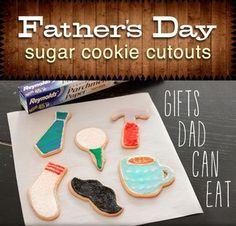 Father's Day Sugar Cookies and 15 other Father's Day gifts kids can make!