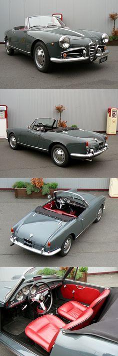 1955 Alfa Romeo Giulietta Spider / Pininfarina / Italy / grey / 17-379 #alfaromeogiulietta