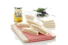 Bocadelia casero Sandwiches, Starter Kit, Italian Recipes, A Food, Dips, Menu, Cheese, Baking, Tableware