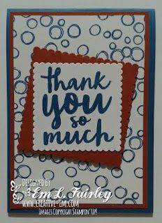 Creative Em: Thankful Thoughts with Playful Backgrounds from Stampin' Up!