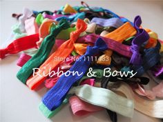 Mixed colors Hair ties 80 colors 16mm FOE fold over elastic Hair band Hair rope Wrist strap Hair accessories Free Shipping-in Hair Accessories from Women's Clothing & Accessories on Aliexpress.com | Alibaba Group