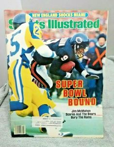 Jim Mcmahon, Chicago Bears Super Bowl, Nfl Football Players, January 20, Sports Illustrated, Magazine, Reading, Illustration
