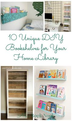 10 Unique DIY Bookshelves For Your Home Library - projects for all skill levels