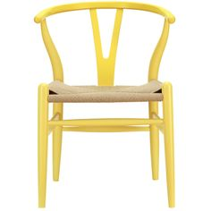 LexMod C24 Wishbone Chair in Yellow