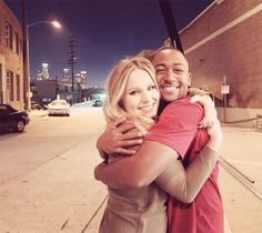 Kristen Bell (Veronica) and Percy Daggs III (Wallace)